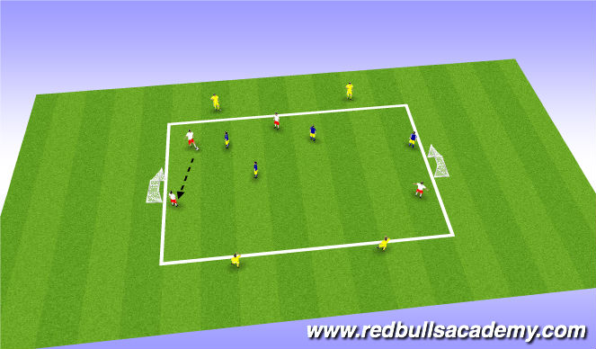 Football/Soccer Session Plan Drill (Colour): Conditioned Game 4v4+4 / Tournament (4v4)