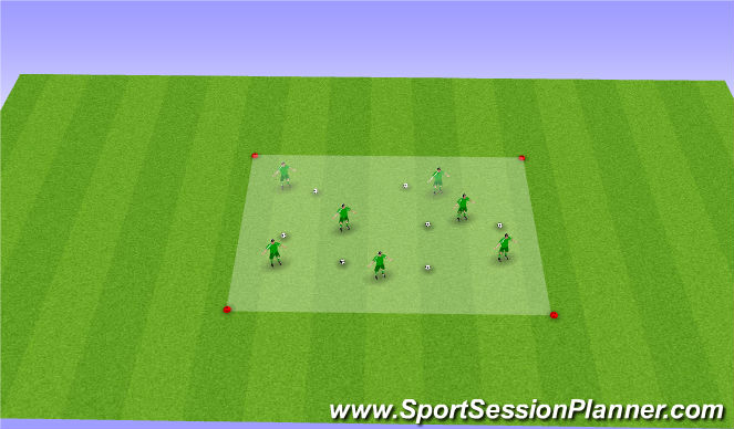 Football/Soccer Session Plan Drill (Colour): Introductie 1 #1