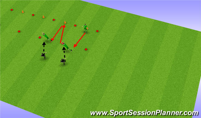 Football/Soccer Session Plan Drill (Colour): Introductie  2 #4