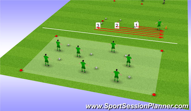Football/Soccer Session Plan Drill (Colour): Spelvorm #1#2#3