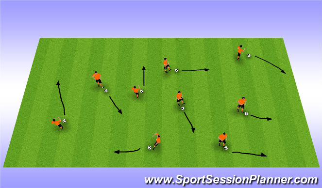Football/Soccer Session Plan Drill (Colour): General Warm Up