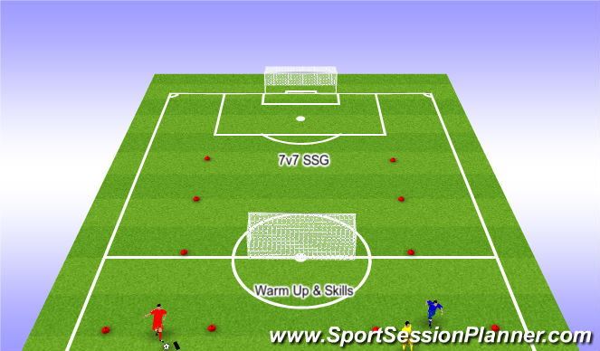 Football/Soccer Session Plan Drill (Colour): Nike Warm Up