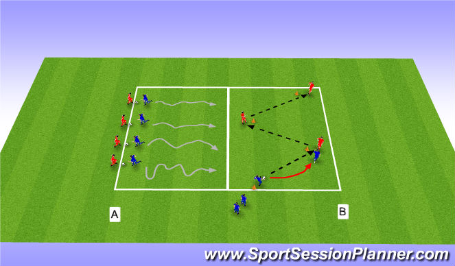 Football/Soccer Session Plan Drill (Colour): Warm-up - ball Manipulation & Passing