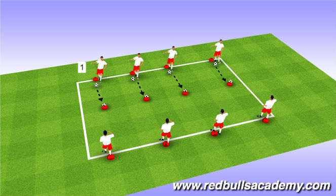 Football/Soccer Session Plan Drill (Colour): Passing/Accuracy