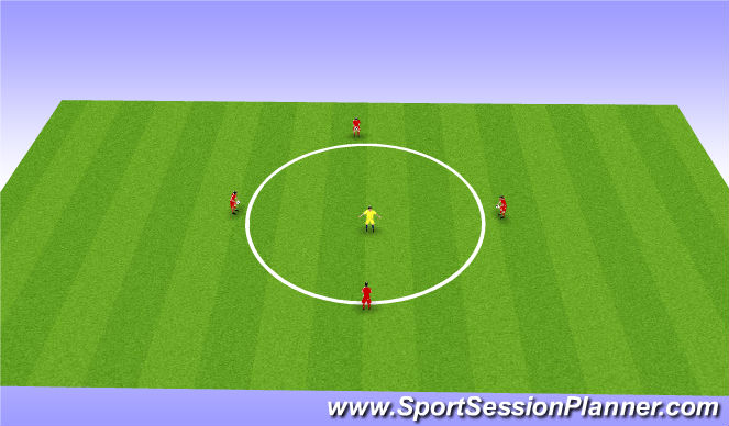 Football/Soccer Session Plan Drill (Colour): Turn and cut - Intro