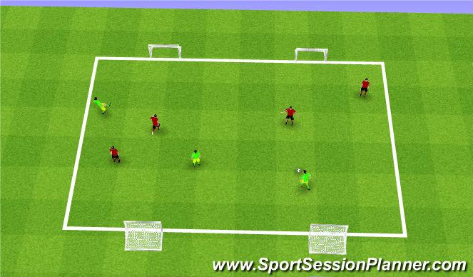 Football/Soccer Session Plan Drill (Colour): Street Soccer Arrival