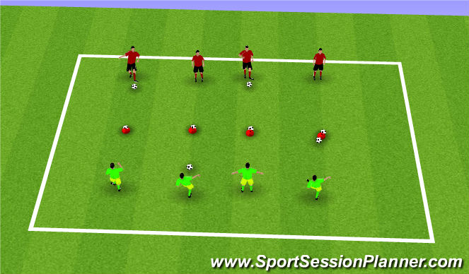Football/Soccer Session Plan Drill (Colour): Battleships