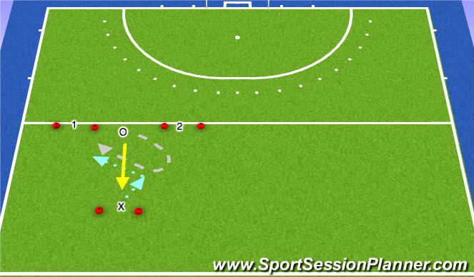 Hockey Session Plan Drill (Colour): Pressing Options
