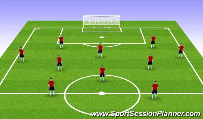 Football/Soccer Session Plan Drill (Colour): Screen 3 Match