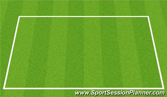 Football/Soccer Session Plan Drill (Colour): 5v5 w GKs