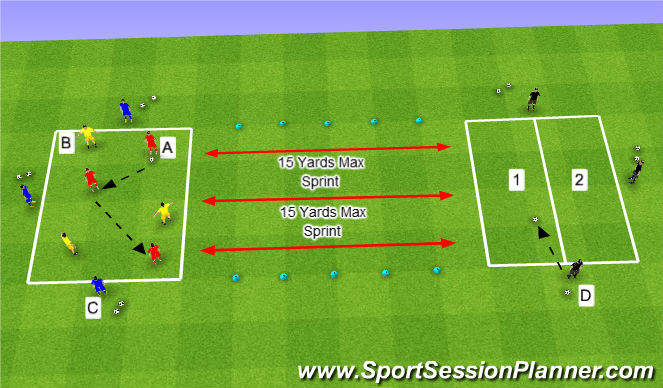 Football/Soccer Session Plan Drill (Colour): Option