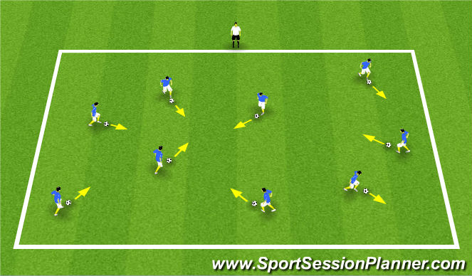 Football/Soccer Session Plan Drill (Colour): U6 Traffic Lights