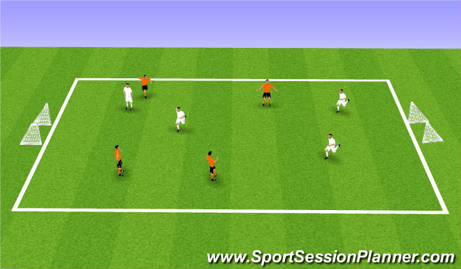 Football/Soccer Session Plan Drill (Colour): 4v4