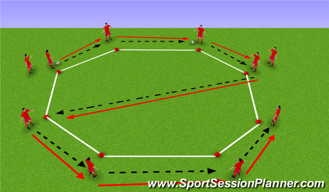 Football/Soccer Session Plan Drill (Colour): Passing Angles