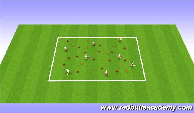 Football/Soccer Session Plan Drill (Colour): Finding Nemo