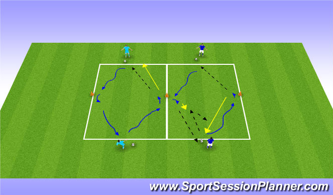 Football/Soccer Session Plan Drill (Colour): balbeheersing