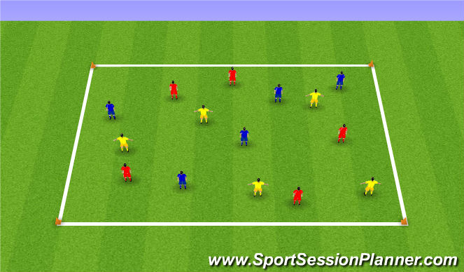 Football/Soccer Session Plan Drill (Colour): 5s possession