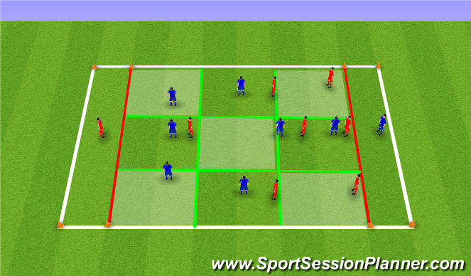 Football/Soccer Session Plan Drill (Colour): targets