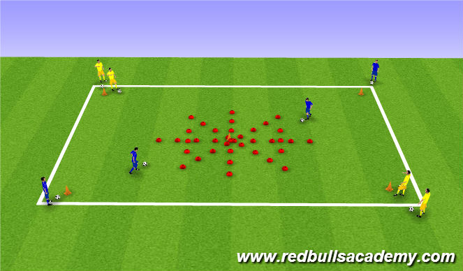 Football/Soccer Session Plan Drill (Colour): Cones Island