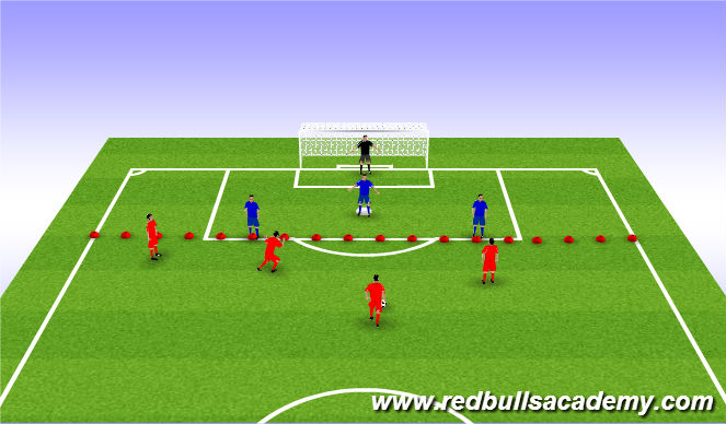 Football/Soccer Session Plan Drill (Colour): 4v3 Conditioned Game