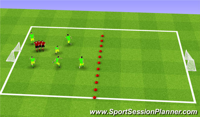Football/Soccer Session Plan Drill (Colour): The Blob