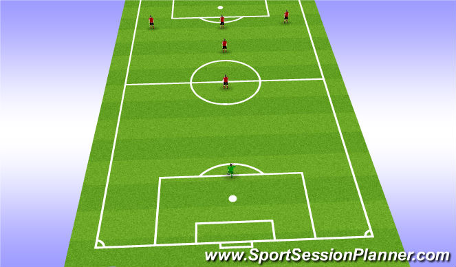 Football/Soccer Session Plan Drill (Colour): When Attacking