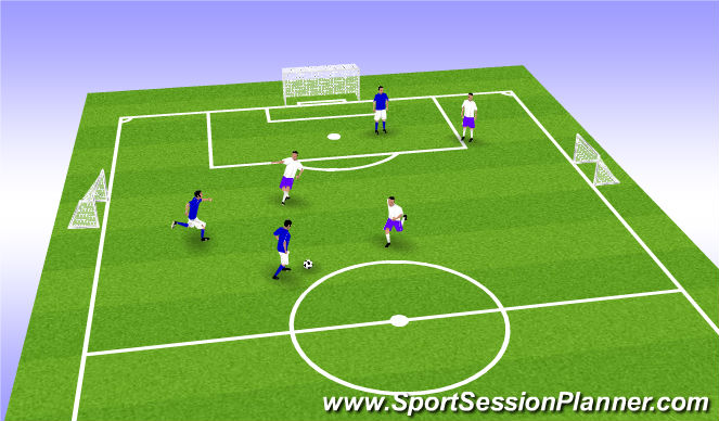 Football/Soccer Session Plan Drill (Colour): Welcome Scrimmage