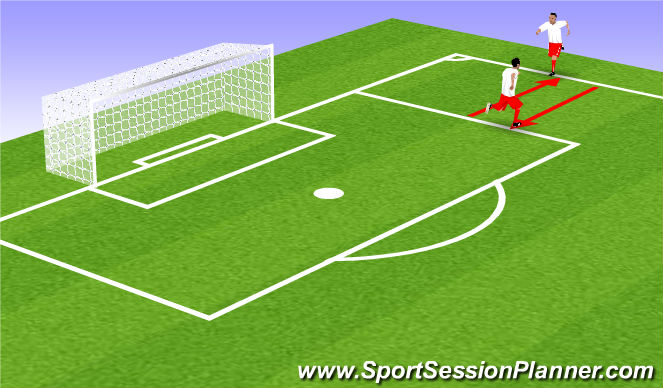 Football/Soccer Session Plan Drill (Colour): Warm Up 1 (Dynamic Stretching)