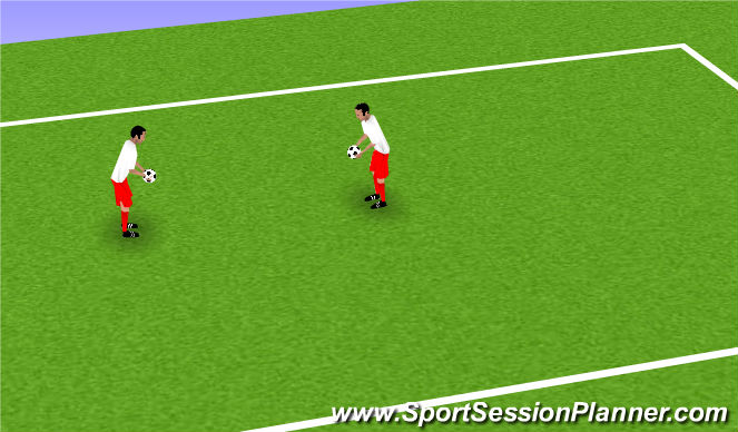 Football/Soccer Session Plan Drill (Colour): Warm Down 1: Fun Handling
