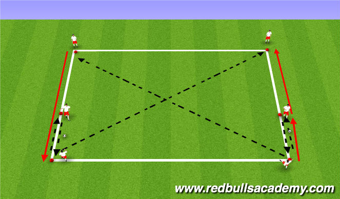 Football/Soccer Session Plan Drill (Colour): combination passes( short/long)