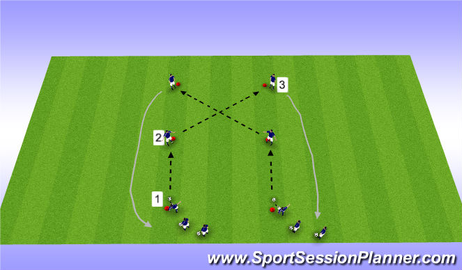 Football/Soccer Session Plan Drill (Colour): #1