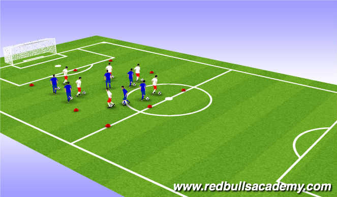 Football/Soccer Session Plan Drill (Colour): Main theme !