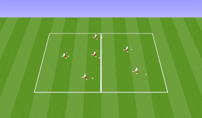Football/Soccer Session Plan Drill (Colour): L turn unopposed