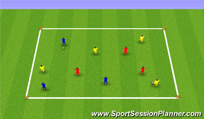 Football/Soccer Session Plan Drill (Colour): passing drill (colours)