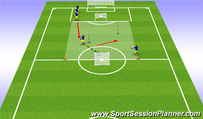 Football/Soccer Session Plan Drill (Colour): transition game 1