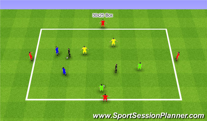 Football/Soccer Session Plan Drill (Colour): Total Chaos