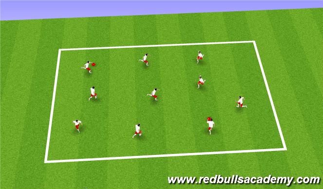 Football/Soccer Session Plan Drill (Colour): Mud Monsters