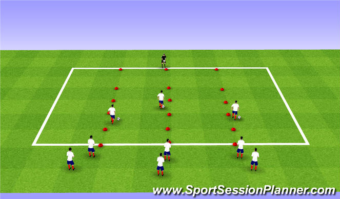 Football/Soccer Session Plan Drill (Colour): BU8's ADP Week 2 Gym Night