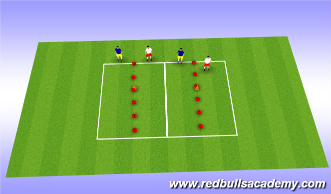 Football/Soccer Session Plan Drill (Colour): shadow game - all progressions