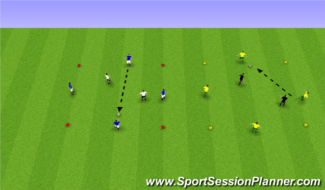 Football/Soccer Session Plan Drill (Colour): Reitabolti.