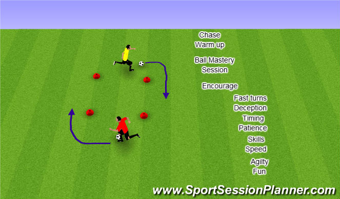 Football/Soccer Session Plan Drill (Colour): CHASE !!