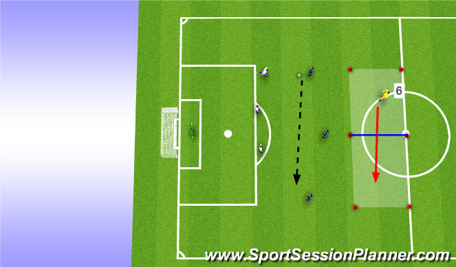 Football/Soccer Session Plan Drill (Colour): Phase3