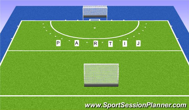 Hockey Session Plan Drill (Colour): Partij