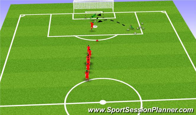 Football/Soccer Session Plan Drill (Colour): Heading lightning