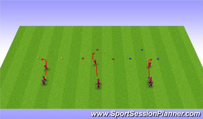 Football/Soccer Session Plan Drill (Colour): Diamond defending