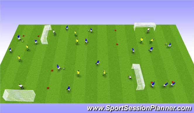 Football/Soccer Session Plan Drill (Colour): 3 á 2.