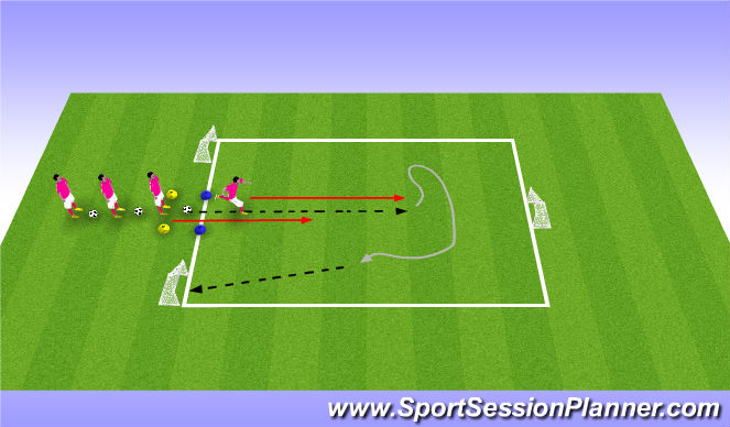 Football/Soccer Session Plan Drill (Colour): Small Sided-Add Pressure