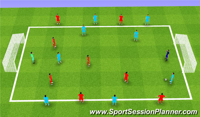Football/Soccer Session Plan Drill (Colour): Juventus Tourney