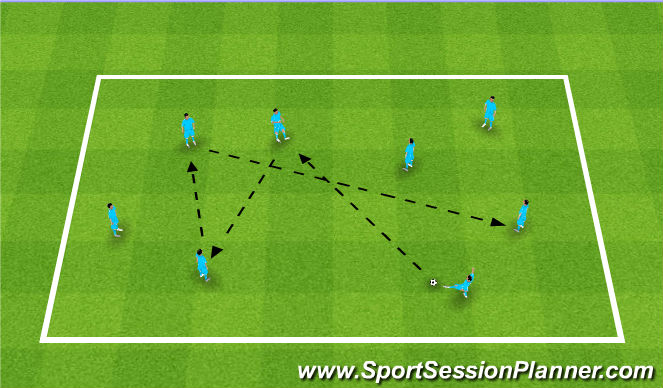 Football/Soccer Session Plan Drill (Colour): Fiorentina Warm Up