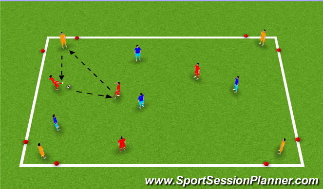 Football/Soccer Session Plan Drill (Colour): Get Outta There!